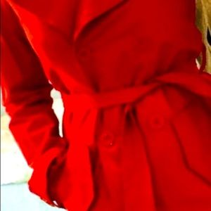 United Colors of Benetton Red Trench Coat
